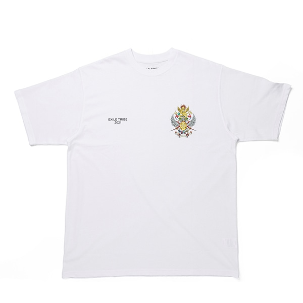 EXILE TRIBE EMBLEM Tee SS/White