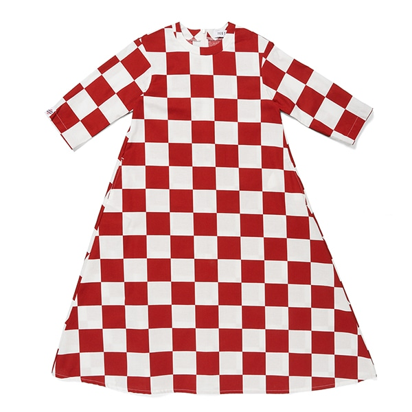 BLOCK CHECKER VOLUME DRESS