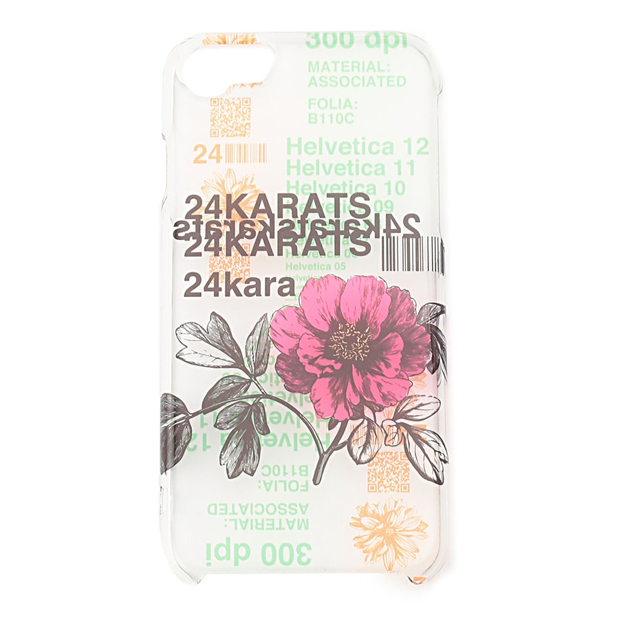 Pattern Print Clear iPhone Case 詳細画像 Pink 1