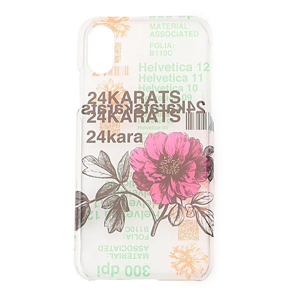 Pattern Print Clear iPhone Case X