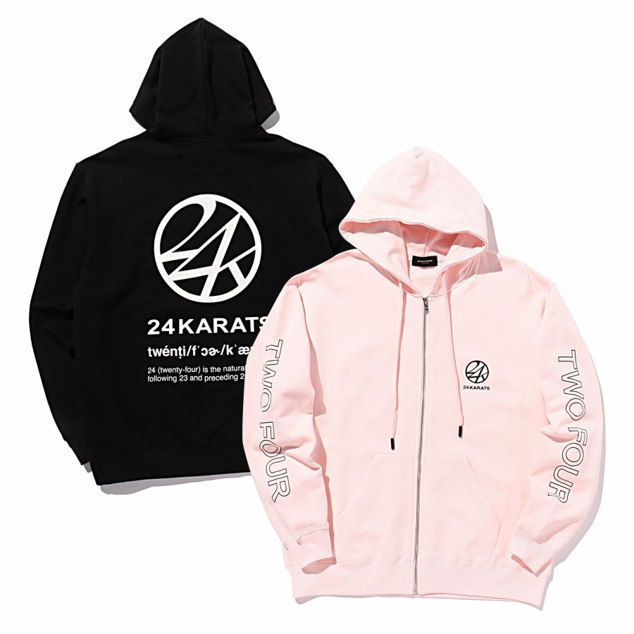 Two Four Basic Zip Hoodie 詳細画像 Black 9