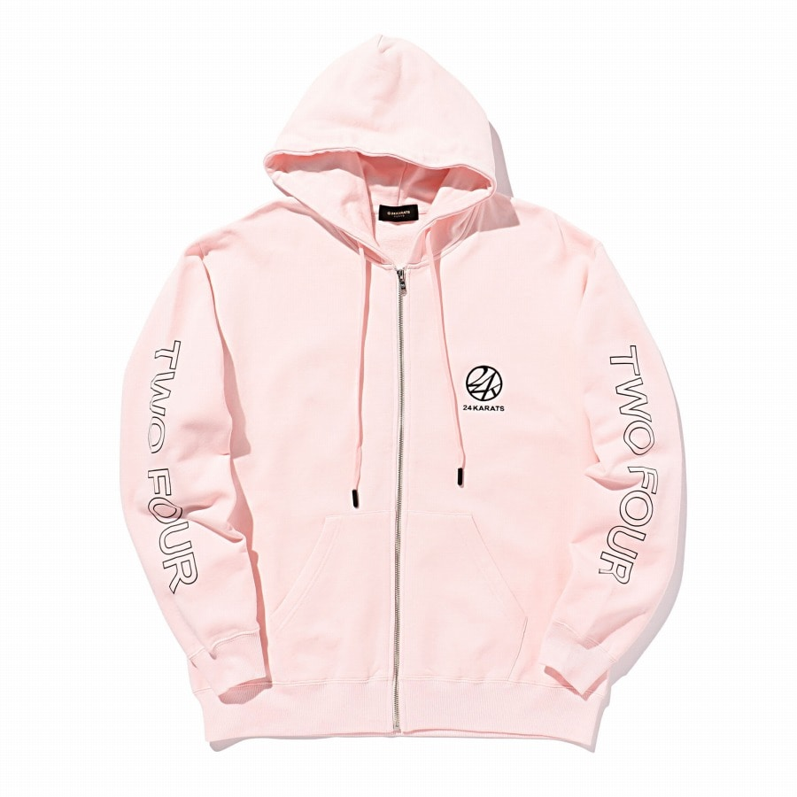 Two Four Basic Zip Hoodie 詳細画像 Pink 1
