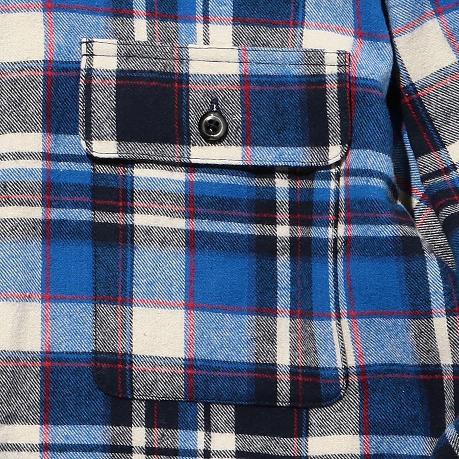 Multi Check Shirt LS 詳細画像 Blue 4