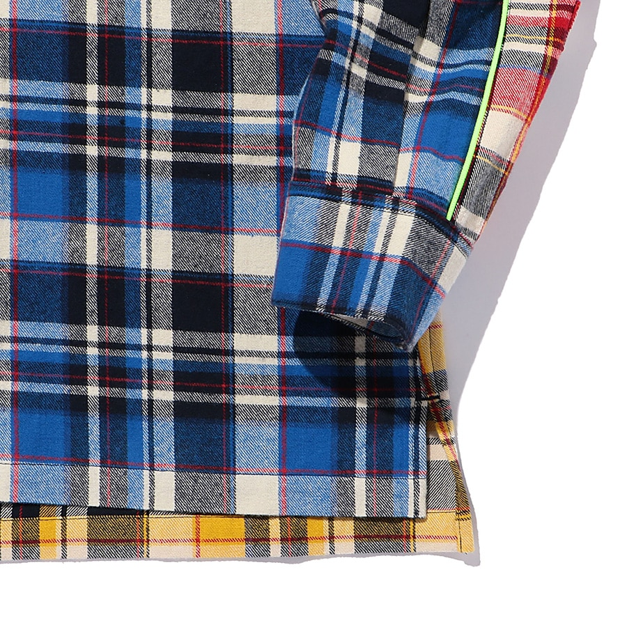 Multi Check Shirt LS 詳細画像 Blue 5