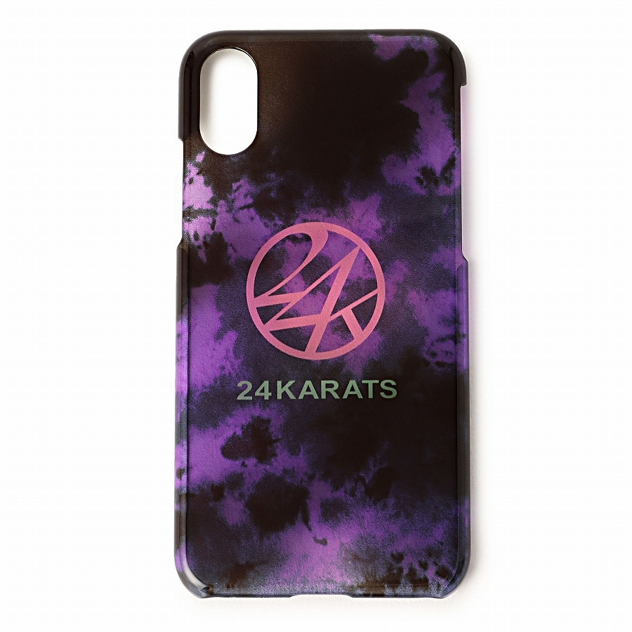 Tie Dye Print iPhone Case X/XS 詳細画像 Purple 1