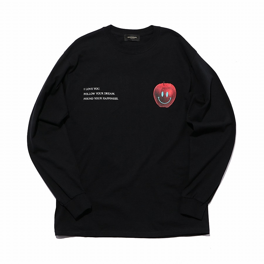 Apple Logo Tee LS 詳細画像 Black 8