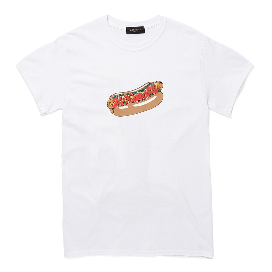Hot Dog Tee SS 詳細画像 White 1
