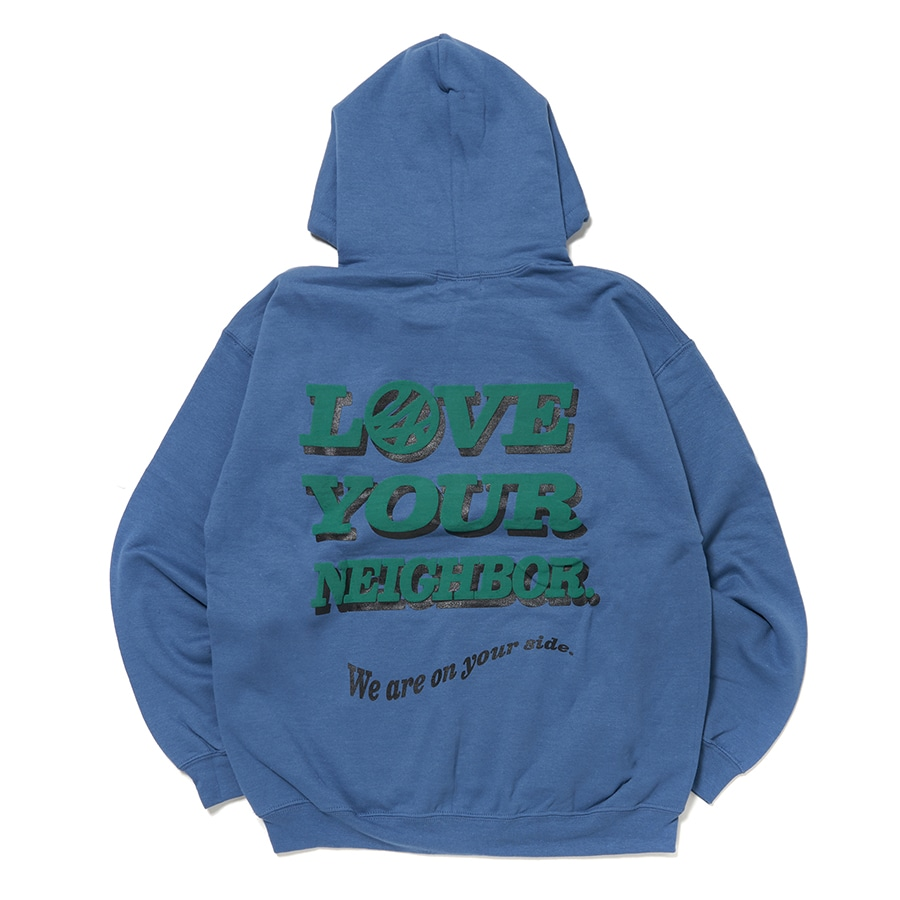 Large Message Hoodie 詳細画像 Blue 1
