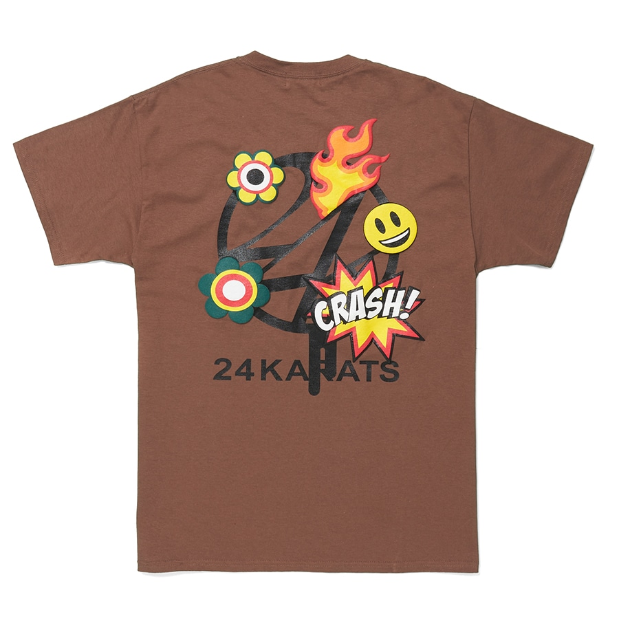 Cartoon Logo Tee SS 詳細画像 Brown 1