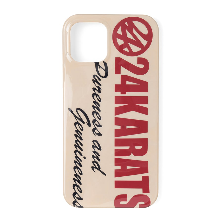 Bold Logo iPhone Case 12/12Pro 詳細画像 Beige 1