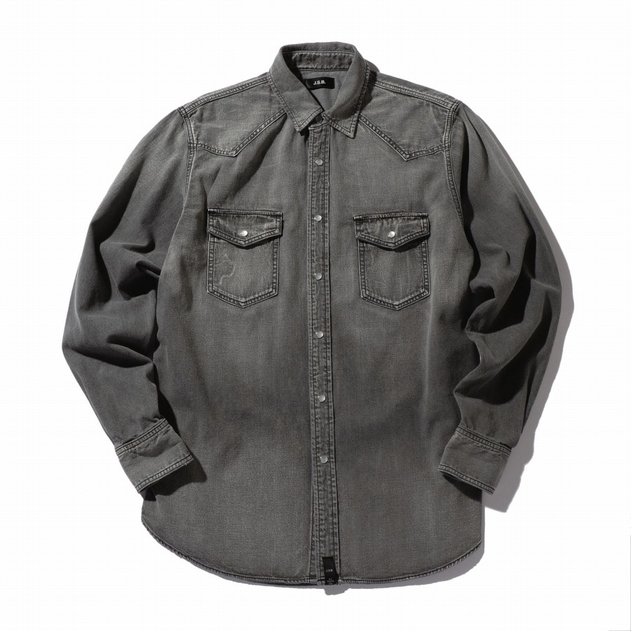 Used Denim Shirt 詳細画像 Black 1