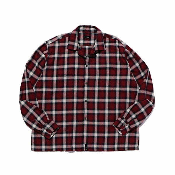 Open-collared L/S Shirt
