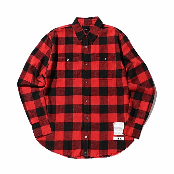 Back Logo Check Flannel Shirt