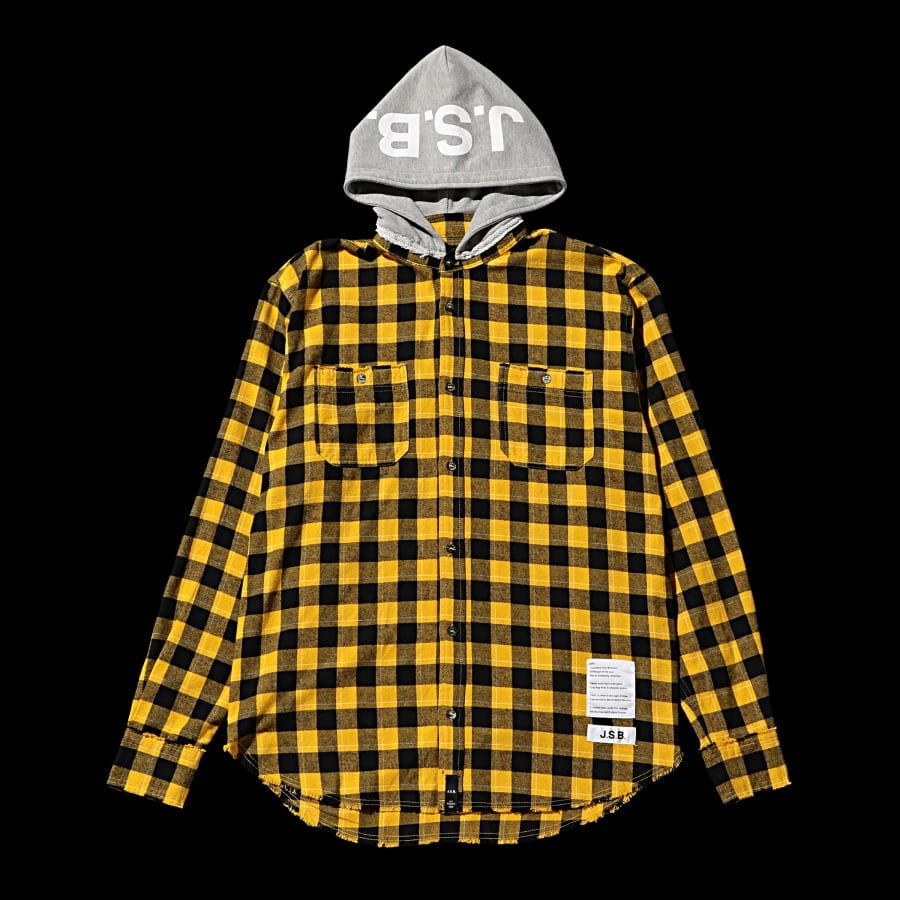 Hoodie Check Flannel Shirt 詳細画像 Yellow 10