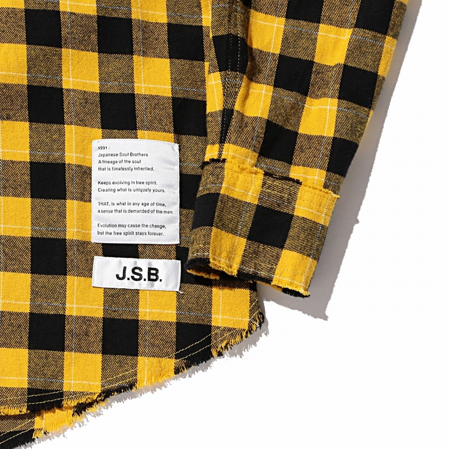 Hoodie Check Flannel Shirt 詳細画像 Yellow 3