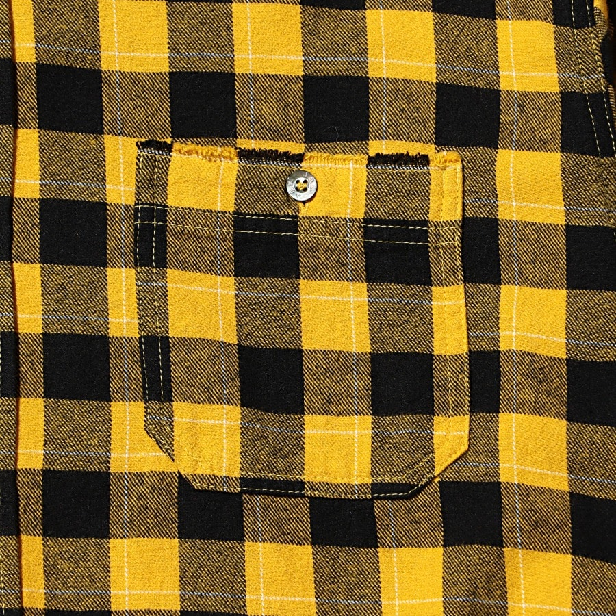 Hoodie Check Flannel Shirt 詳細画像 Yellow 4