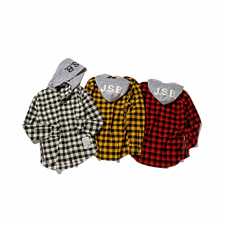 Hoodie Check Flannel Shirt 詳細画像 Yellow 9