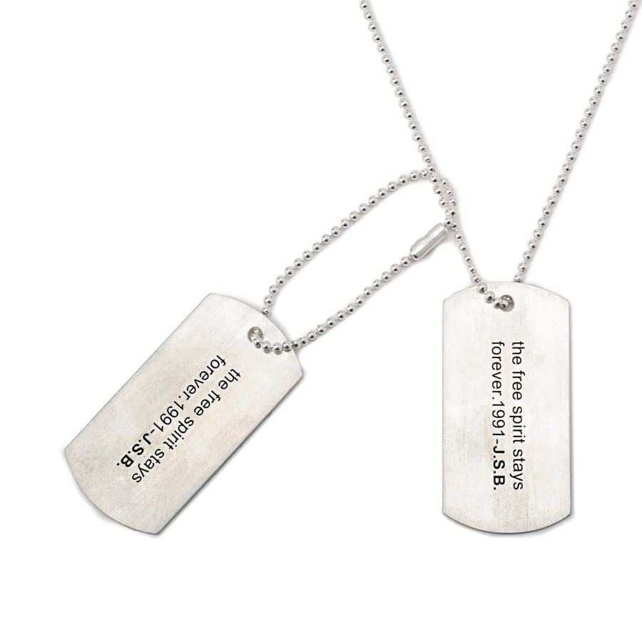 Message Dog Tag 詳細画像 Silver 1