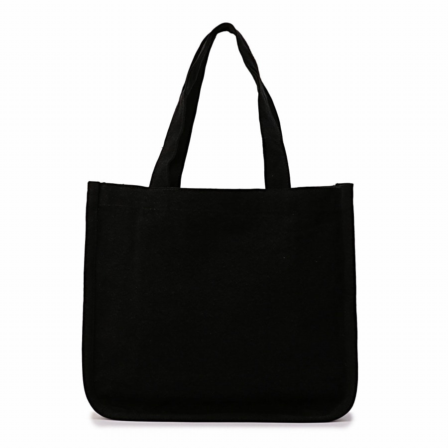 Logo Embroidered Tote Bag 詳細画像 Black 2