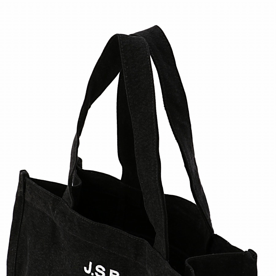 Logo Embroidered Tote Bag 詳細画像 Black 4