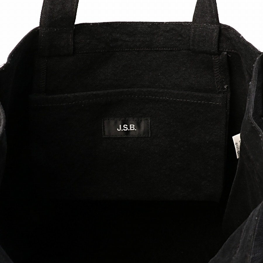 Logo Embroidered Tote Bag 詳細画像 Black 6