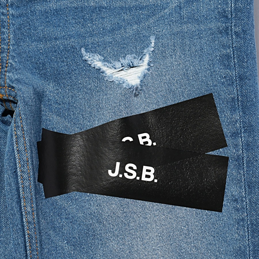 Pasted Logo Denim Pants 詳細画像 Black 5
