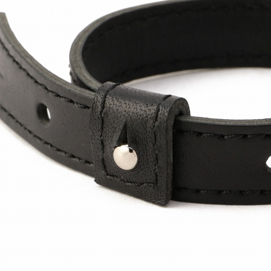 Logo Leather Bracelet 詳細画像 Black 2