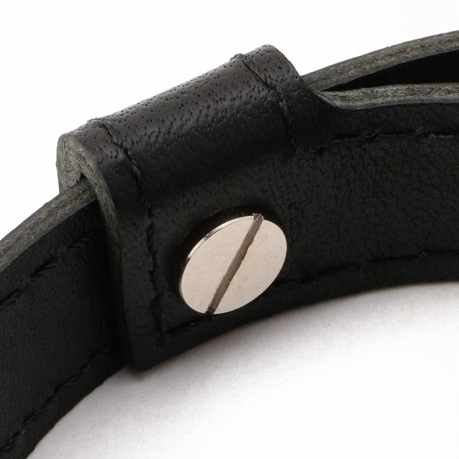 Logo Leather Bracelet 詳細画像 Black 3