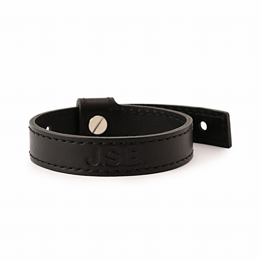 Logo Leather Bracelet 詳細画像 Black 1