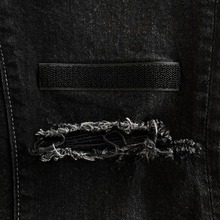 Crush Skinny Denim Pants 詳細画像 Black 6