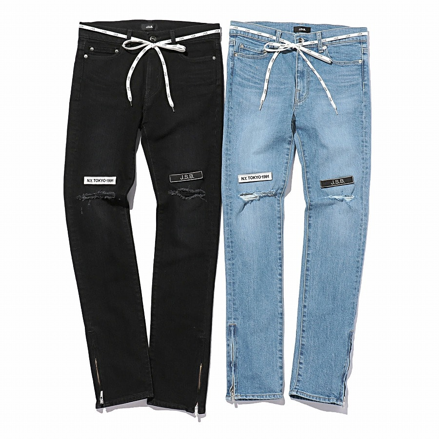 Crush Skinny Denim Pants 詳細画像 Black 9