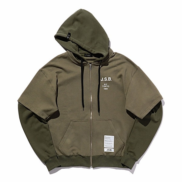 Layered Logo Zip Parka