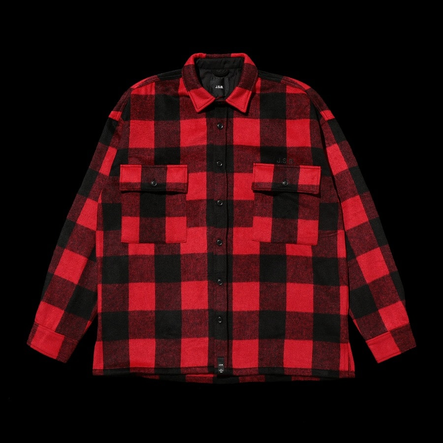 Logo Check Shirt Jacket 詳細画像 Red 10