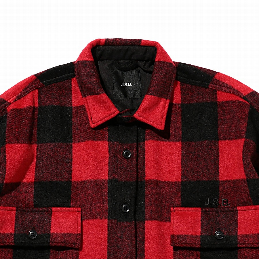 Logo Check Shirt Jacket 詳細画像 Red 2
