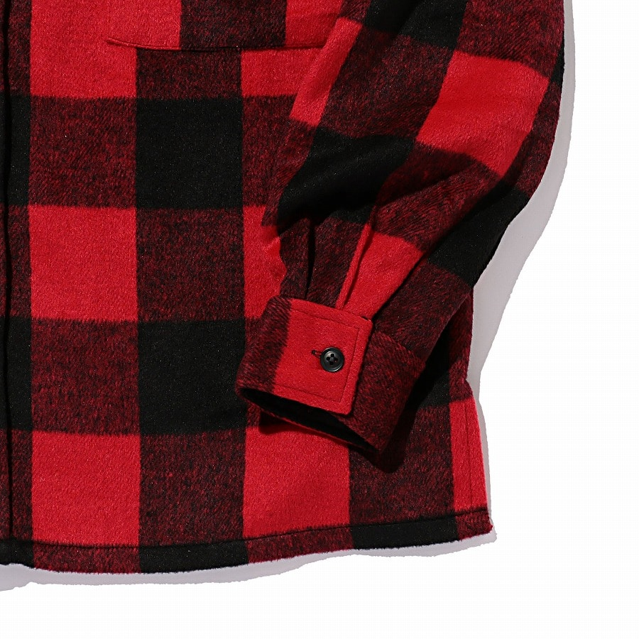 Logo Check Shirt Jacket 詳細画像 Red 3
