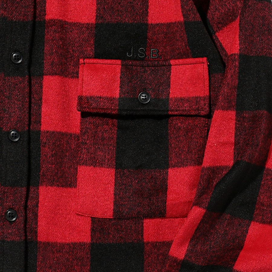 Logo Check Shirt Jacket 詳細画像 Red 4