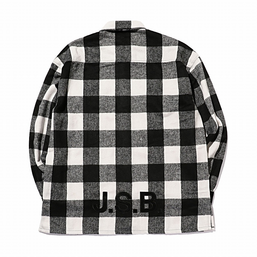 Logo Check Shirt Jacket 詳細画像 Red 8