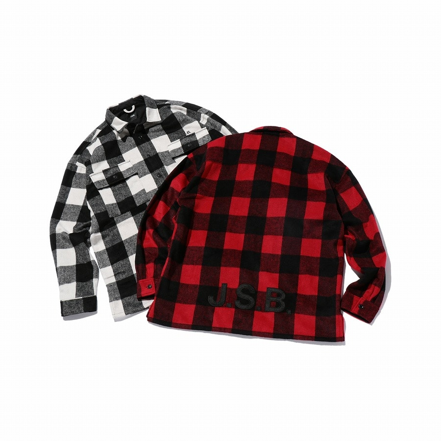 Logo Check Shirt Jacket 詳細画像 Red 9