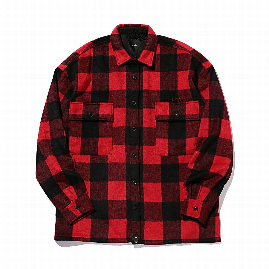 Logo Check Shirt Jacket 詳細画像 Red 1