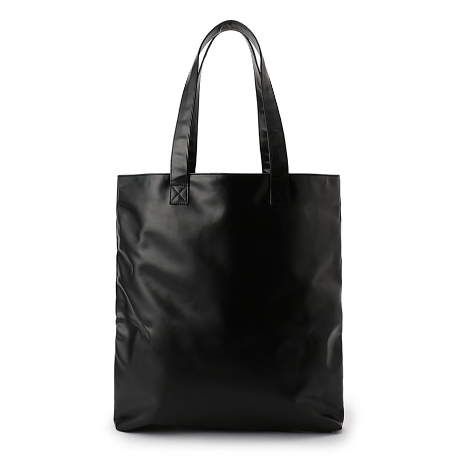 Outline Logo Leather Tote Bag 詳細画像 Black 1
