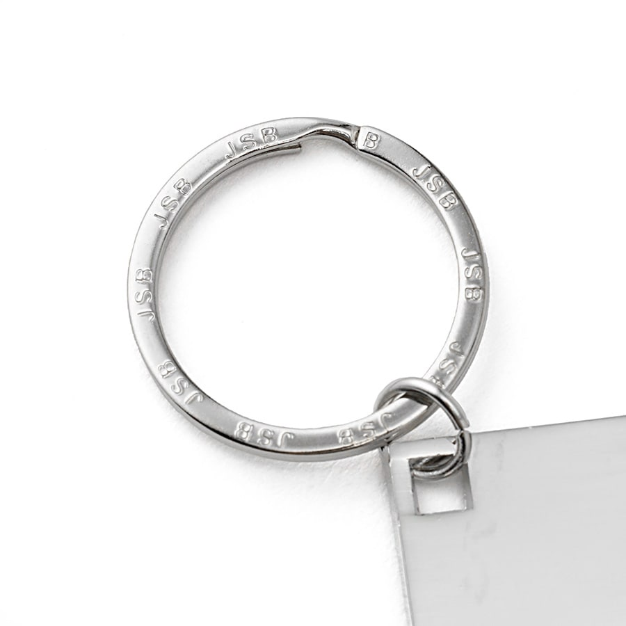 Label Plate Keyring 詳細画像 Silver 5