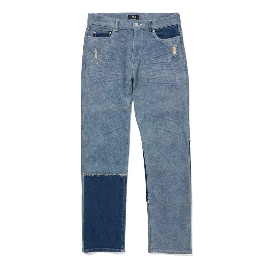 Two Tone Denim Pants