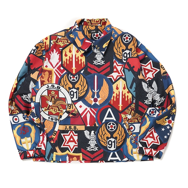 Patch Pattern Drizzler Jacket