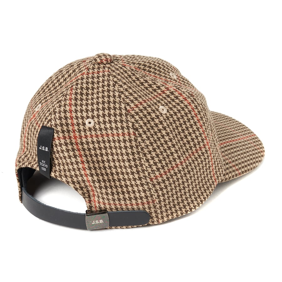 Wool Check Logo Cap 詳細画像 Beige 4