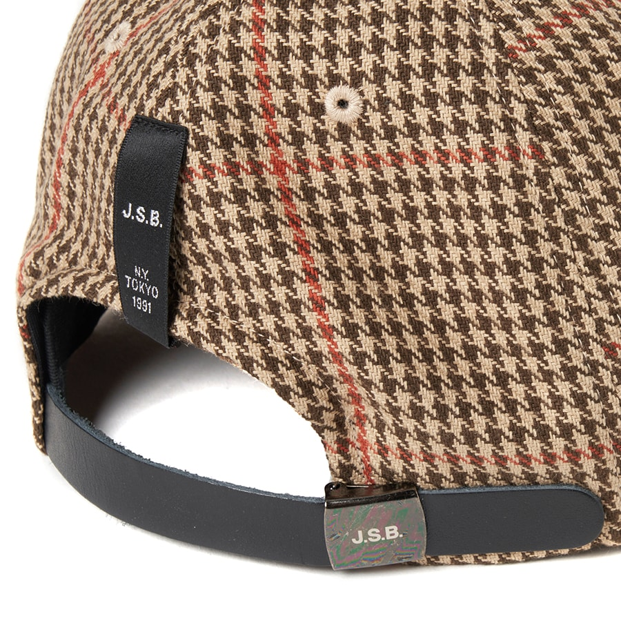 Wool Check Logo Cap 詳細画像 Beige 5
