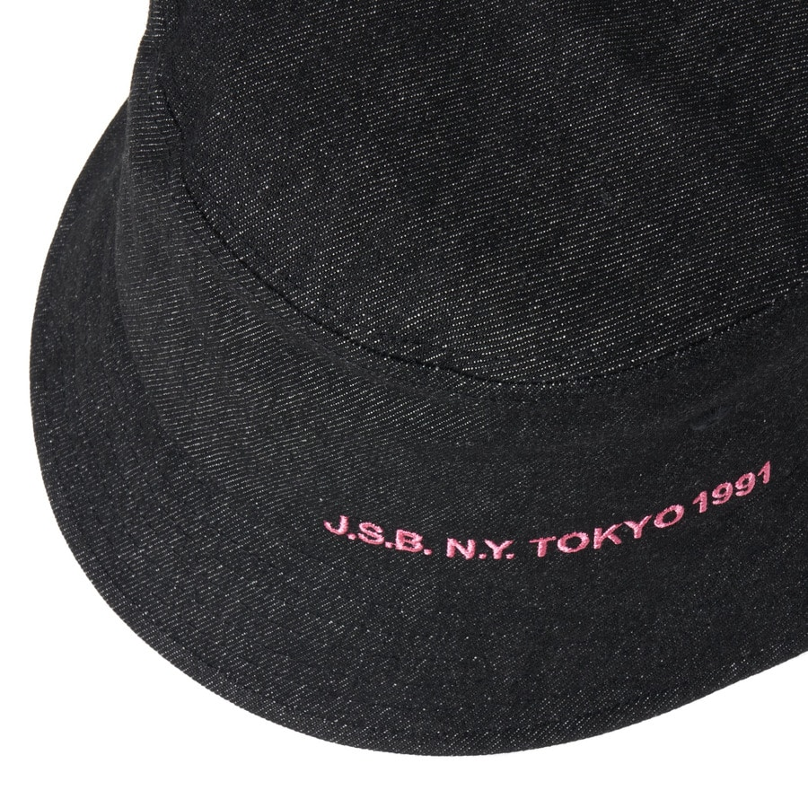 Simple Logo Bucket Hat 詳細画像 Black 3