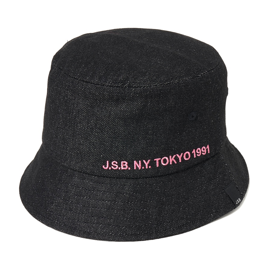Simple Logo Bucket Hat 詳細画像 Black 1