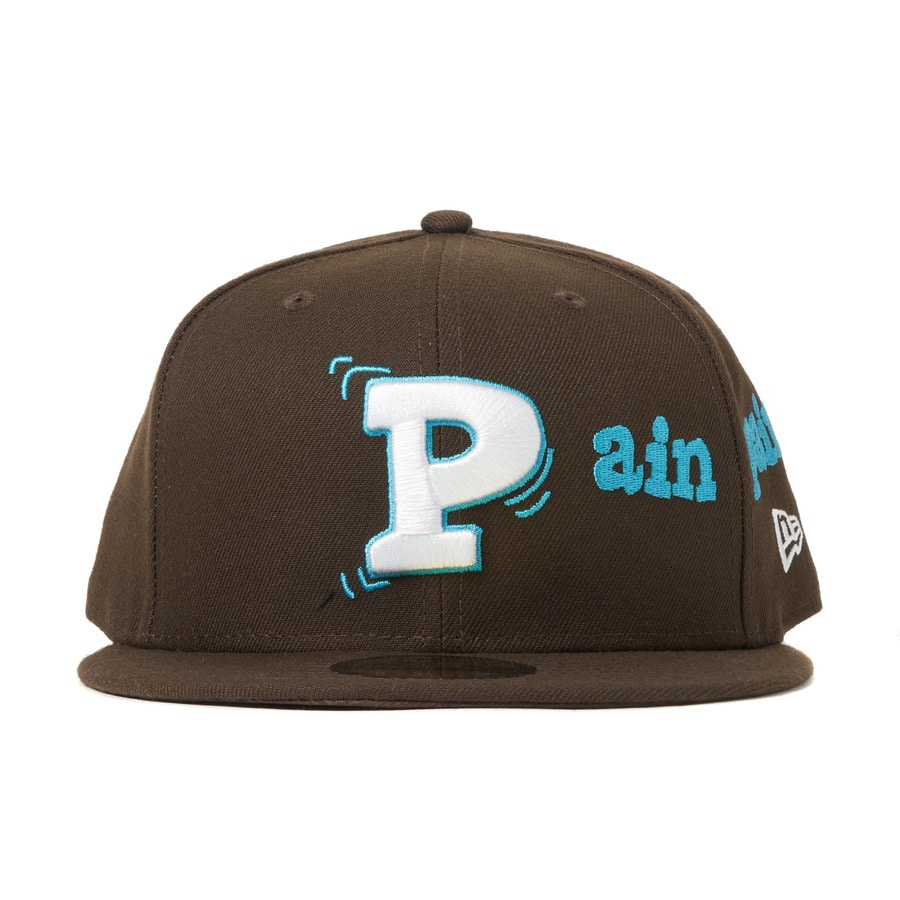 Pain pain go away× NEWERA 59FIFTY 詳細画像 Brown 2