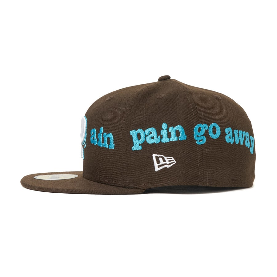 Pain pain go away× NEWERA 59FIFTY 詳細画像 Brown 3
